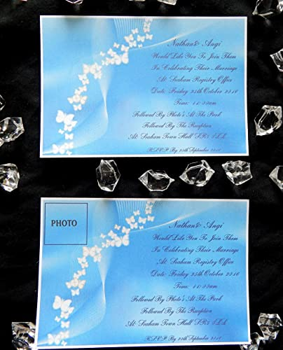 25 50 75 or 100 x personalised renewal of vows invitations