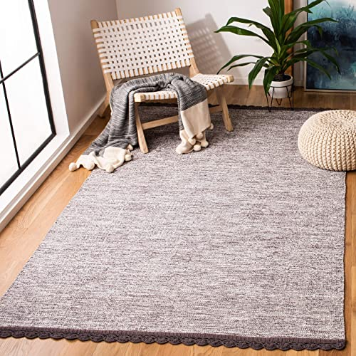 Safavieh Montauk Collection MTK615J Charcoal Grey Area Rug 5 x 8