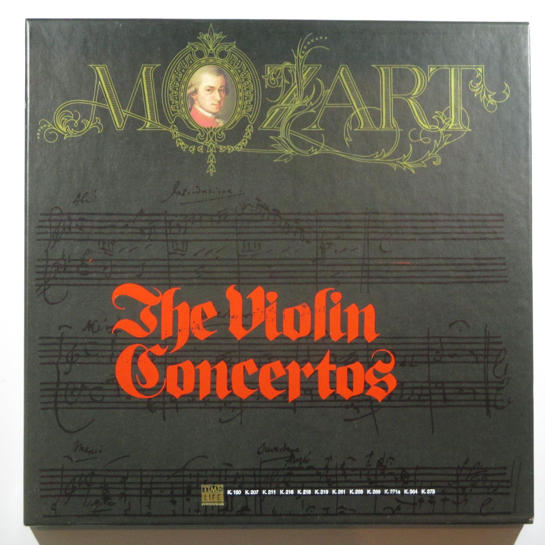 W. A. Mozart: The Violin Concertos Nos. 1-7, Concertone, Sinfonia Concertante, Rondos, Adagio by Time Life STL-M13 5LP Box Set