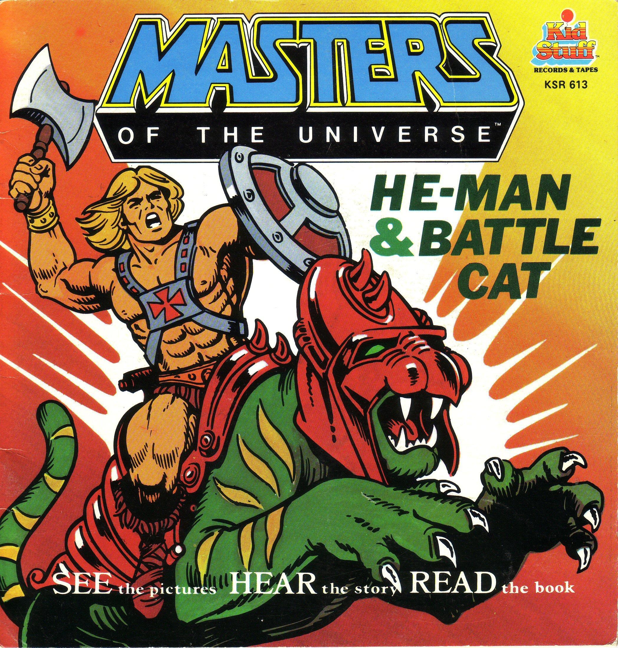HE-MAN /& BATTLE CAT MASTERS UNIVERSE MOTU Story Book w// Record SEALED Kid Stuff