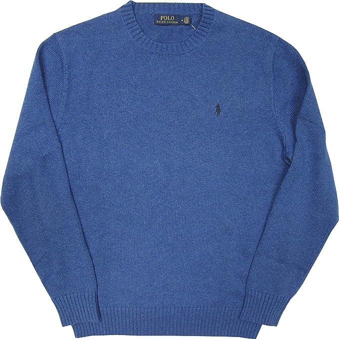 Ralph Lauren - Jersey de algodón para Hombre, Cuello Redondo, Azul ...