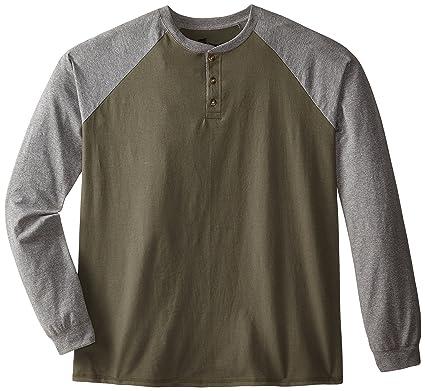 e31c7eaaf084 Hanes Men's Long-Sleeve Beefy Henley T-Shirt at Amazon Men's Clothing store: