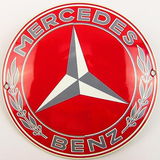 NUEVO esmalte Cartel Mercedes 12 cm redondo, Classic ...