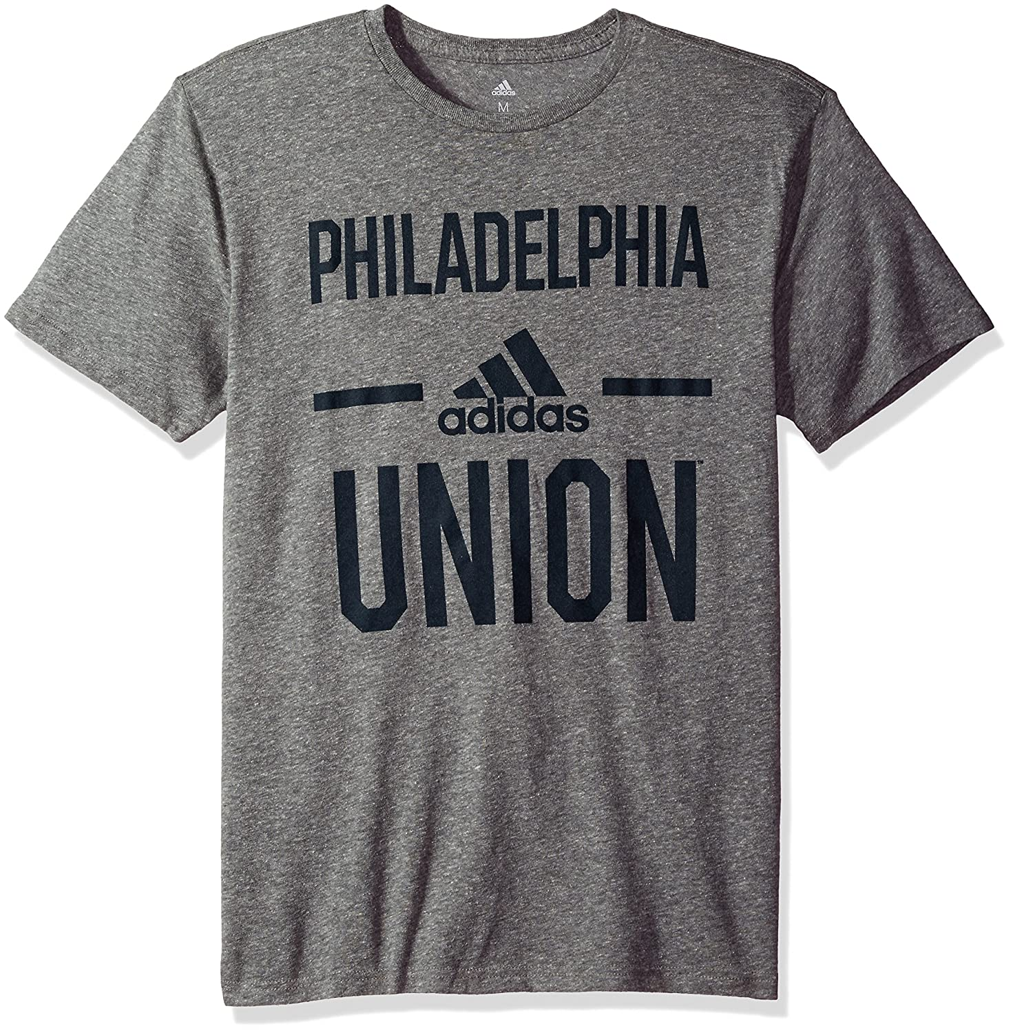 X-Large MLS Philadelphia Union Adult Men Simply Put Tri-Blend S//Tee Dark Gray Heathered