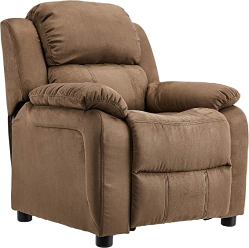 JC Home Kids Microfiber Deluxe Heavily Padded Recliner