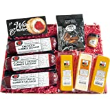 Ultimate Gift Basket - features Smoked Summer Sausages, 100% Wisconsin Cheese, Crackers, Pretzels and Mustard - Perfect for Parties and Tailgating