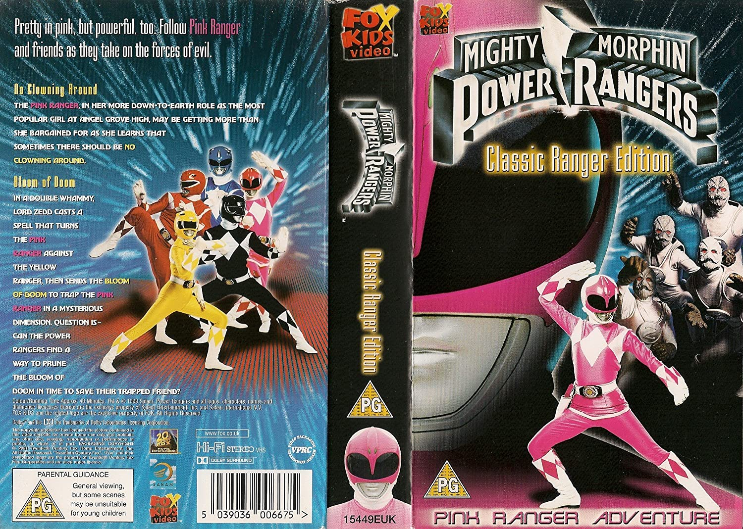 Mighty Morphn Power Rangers [Reino Unido] [VHS]: Amazon.es ...