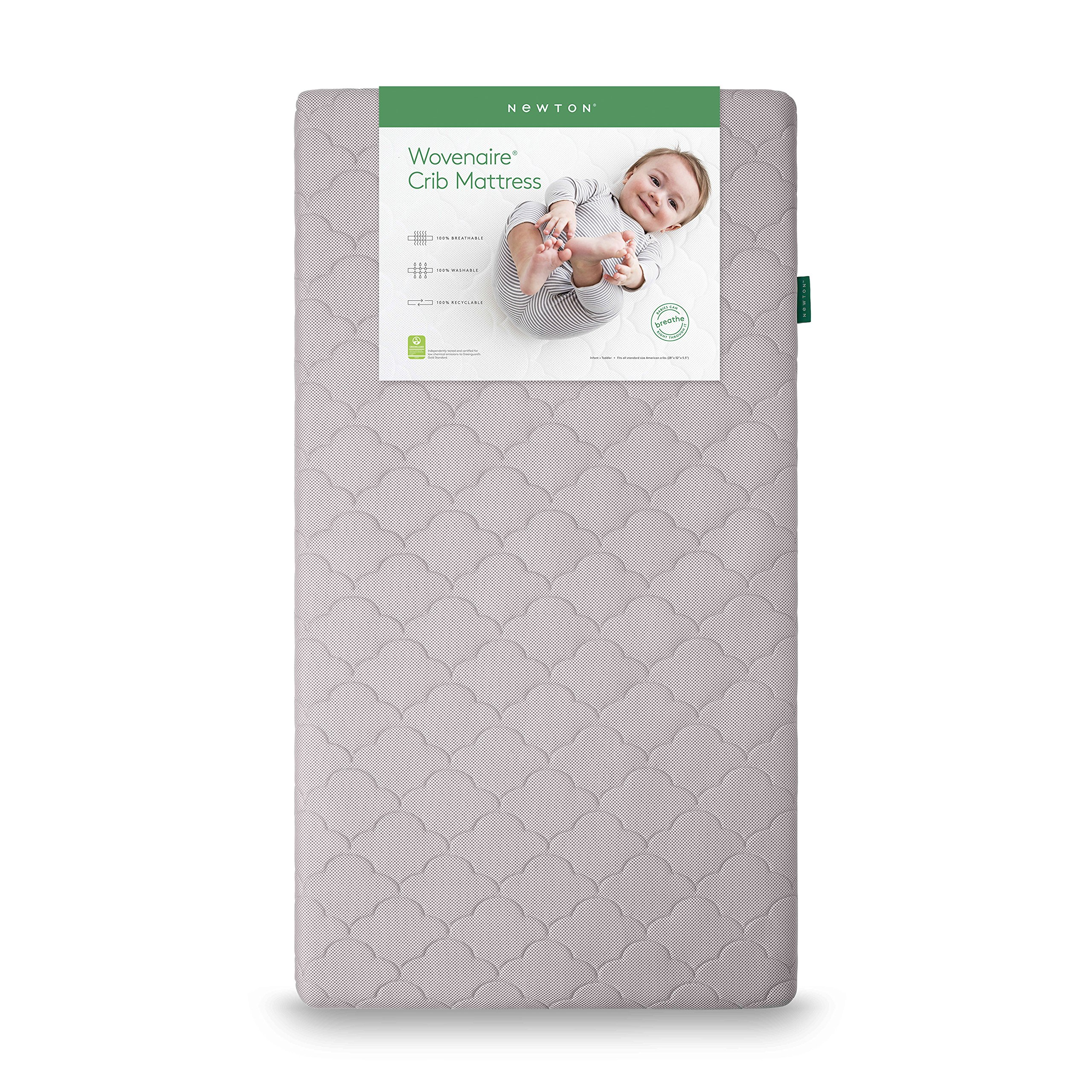 Newton Wovenaire Crib Mattress: 100% Breathable and Washable. Beyond Organic- the safest, cleanest & most comfortable sleep for your baby, Moonlight Grey