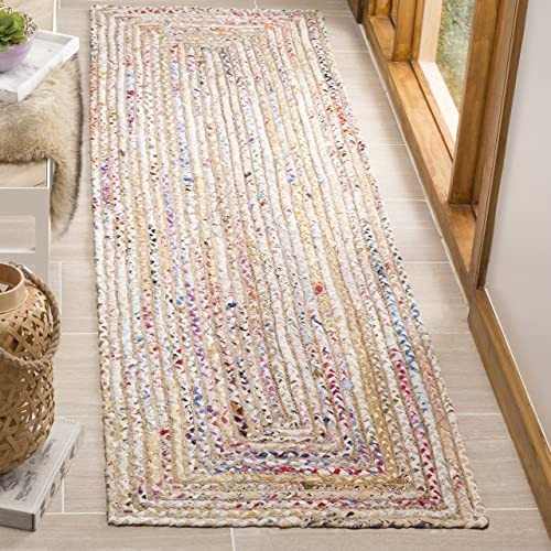 Cozy Contemporary Stripe White-Grey 7 10 X 10 Indoor Shag Area Rug