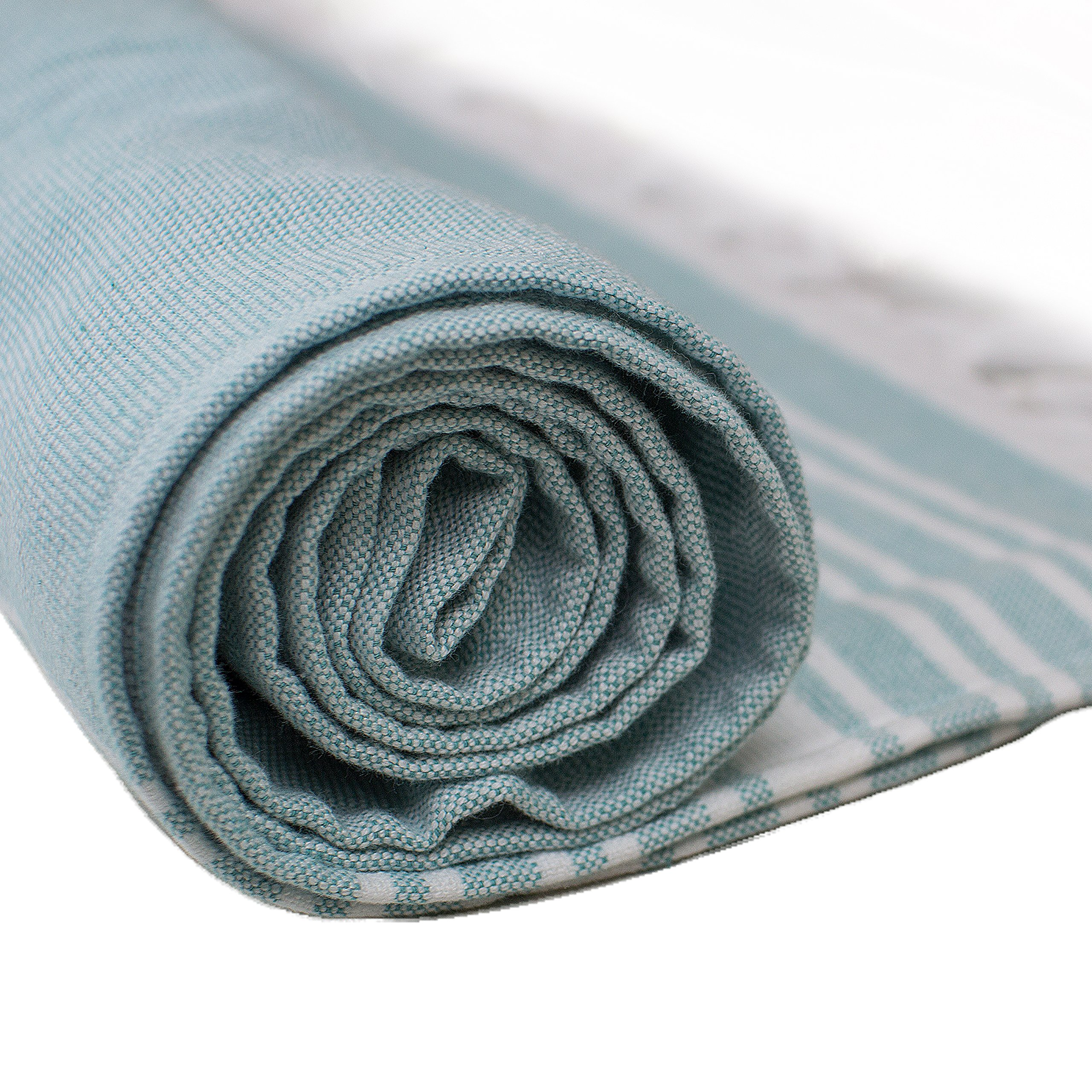 Caravalli Turkish Peshtemal Bath Sheet, York Green OverSized Cotton Flat Towel for Bathroom, Turkish Hamam Large Woven Cotton Beach Towel with Fringe, 35 x 70 XL Luxury Green Peshtamal Towel