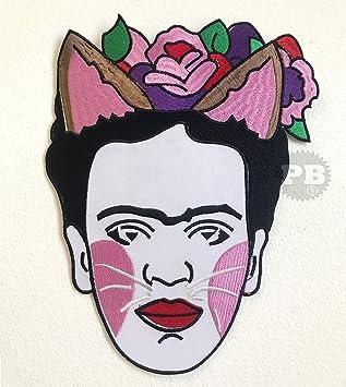 Frida Kahlo - Parche bordado para coser o coser