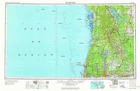 Plant City Florida Map.Amazon Com Plant City Fl Topo Map 1 250000 Scale 1 X 2 Degree