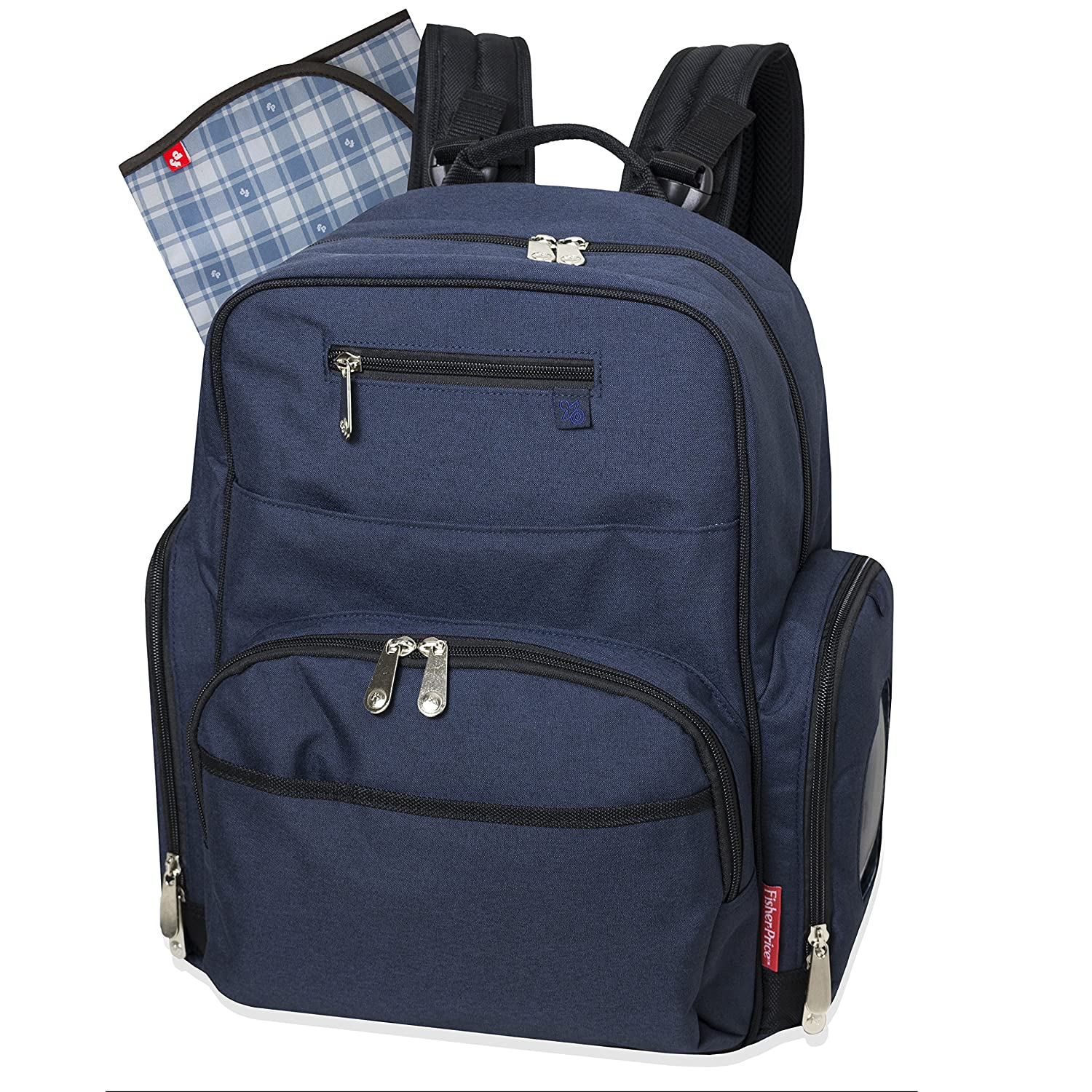 e422a8df553 Amazon.com   Fisher Price Backpack Diaper Bag - Fastfinder Denim   Baby