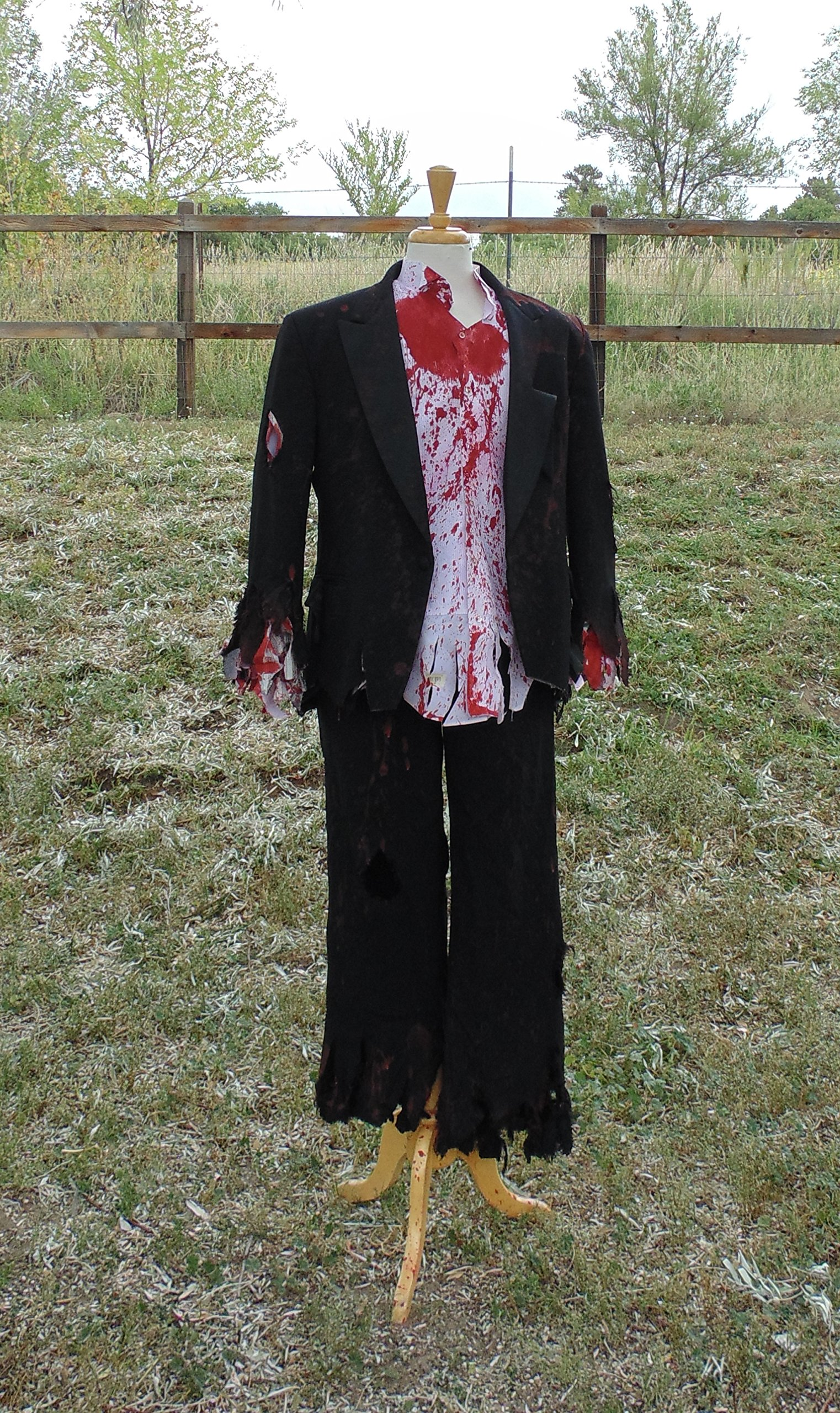 Men's Prom Zombie Complete Costume by Fru Fru and Feathers Costumes & Gifts
