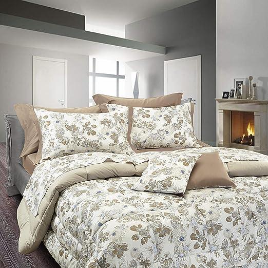 Copripiumino Con Federe.Cogal Platinum Coloured Print Pattern Material 100 Cotton