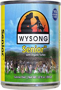 Wysong Senior Organic Turkey Canine Canned Diet, Senior Dog Food