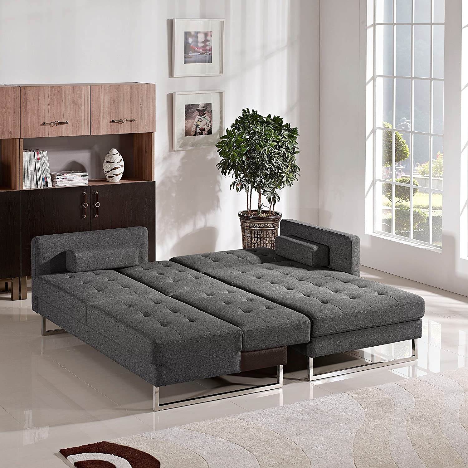 Amazon Opus Convertible Tufted RF Chaise Sectional by Diamond