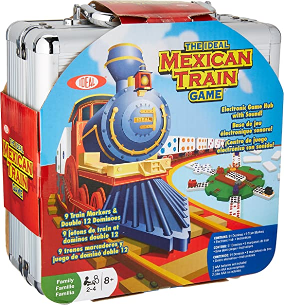 New Mexican Train Domino Holder Hub 8 Players Paths Center Dominos