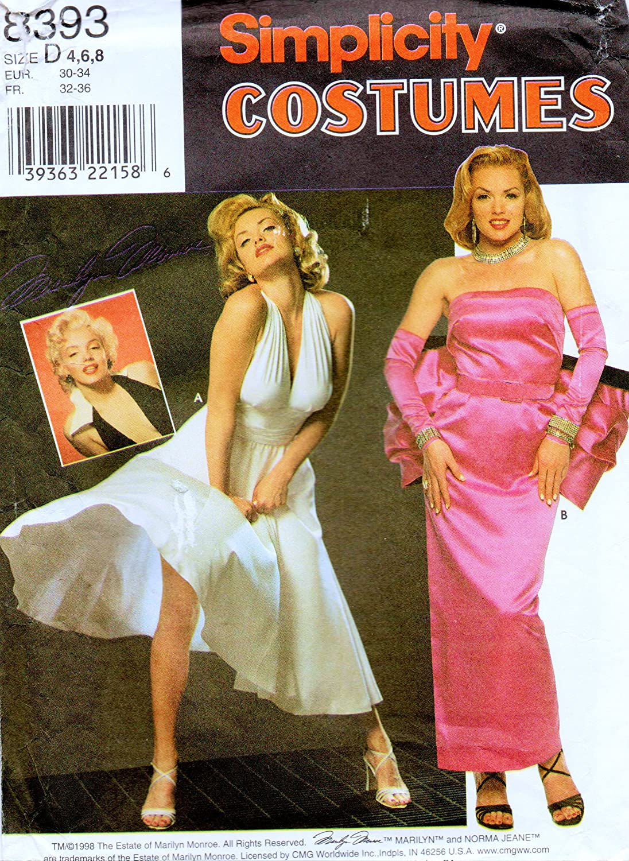 Simplicity 8393 patrón de costura para disfraz de Marilyn Monroe ...