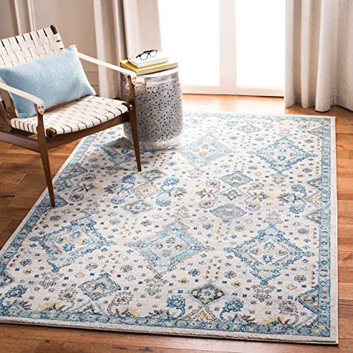 Safavieh Evoke Collection EVK224C Contemporary Ivory and Light Blue Area Rug 3 x 5