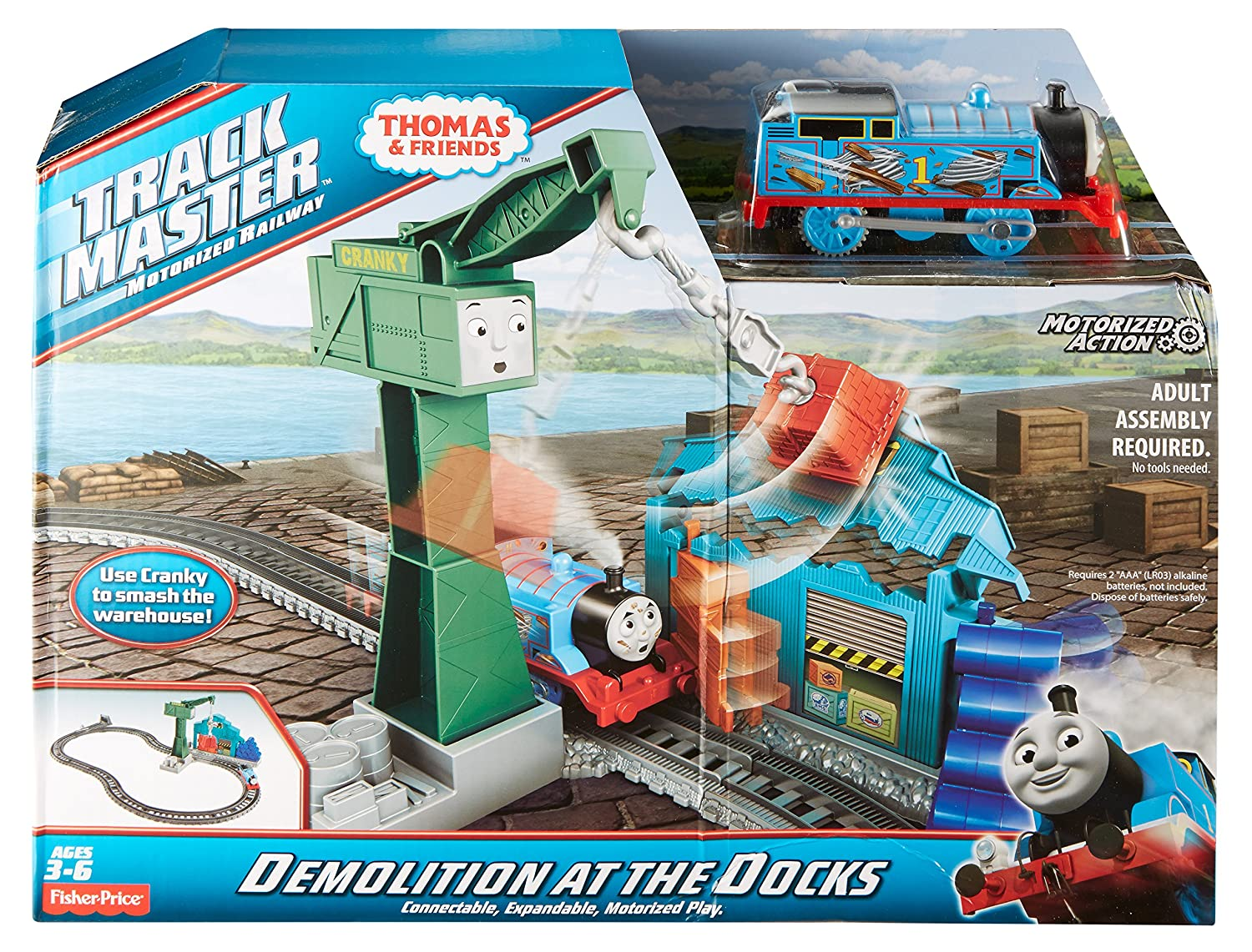 Fisher price thomas amp friends trackmaster treasure chase set new - Amazon Com Fisher Price Thomas Friends Trackmaster Demolition At The Docks Set Toys Games
