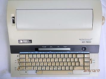 Smith Corona - Máquina de escribir XD 7500 modelo 5pxd75: Amazon.es: Electrónica