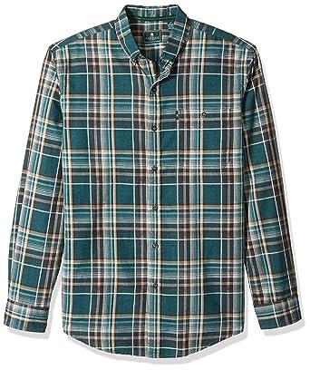 73f94f1b13 G.H. Bass & Co. Men's Madawaska Long Sleeve Button Down Plaid Shirt, Legacy  Deep