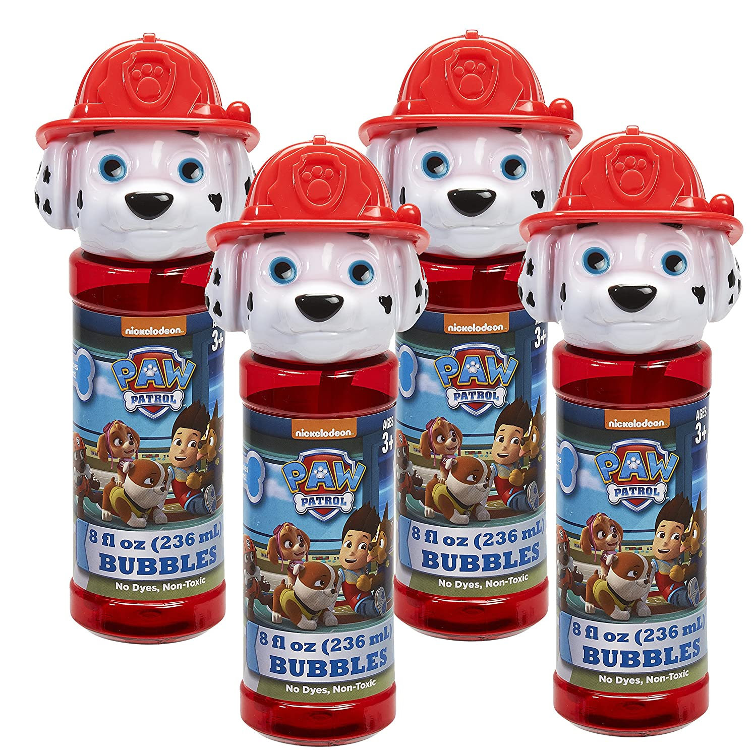 Little Kids Paw Patrol Marshall 8 oz Bubble Head with Wand Set 4 Piece