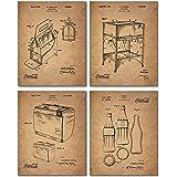 Coca Cola Patent Prints - Set of Four Vintage Coca-Cola Company Wall Art Decor Photos