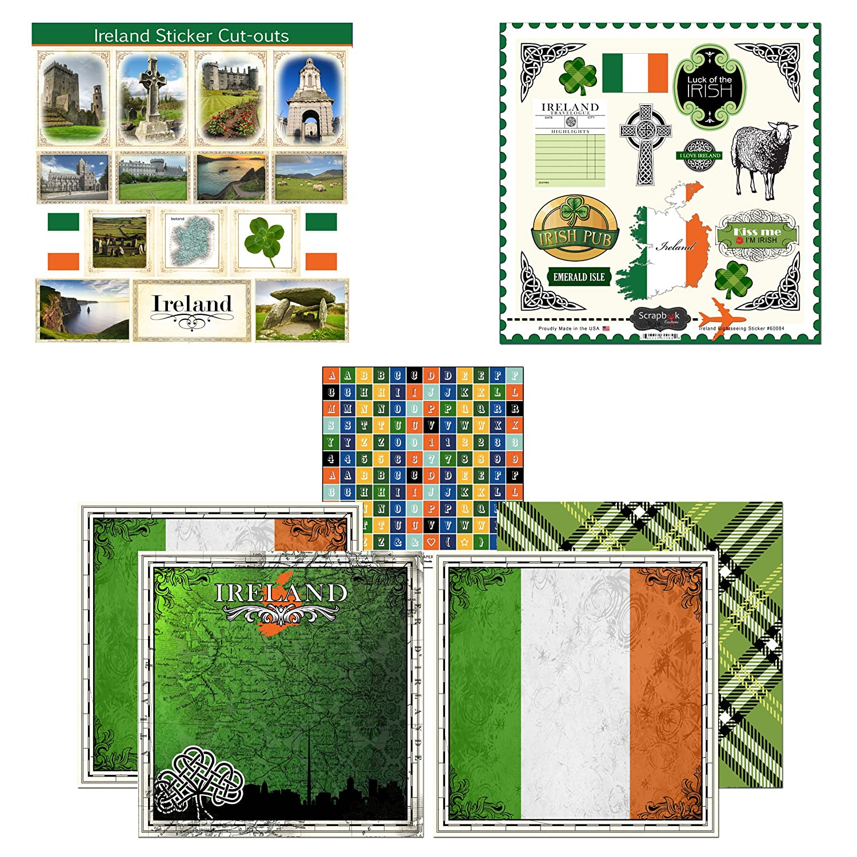 Amazon com scrapbook customs themed paper and stickers scrapbook kit ireland sightseeing