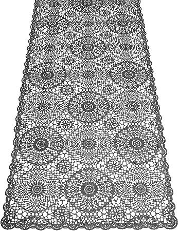 Kersten - 2 tapetes de Mesa, PVC, 40 x 150 cm, diseño de Ganchillo ...