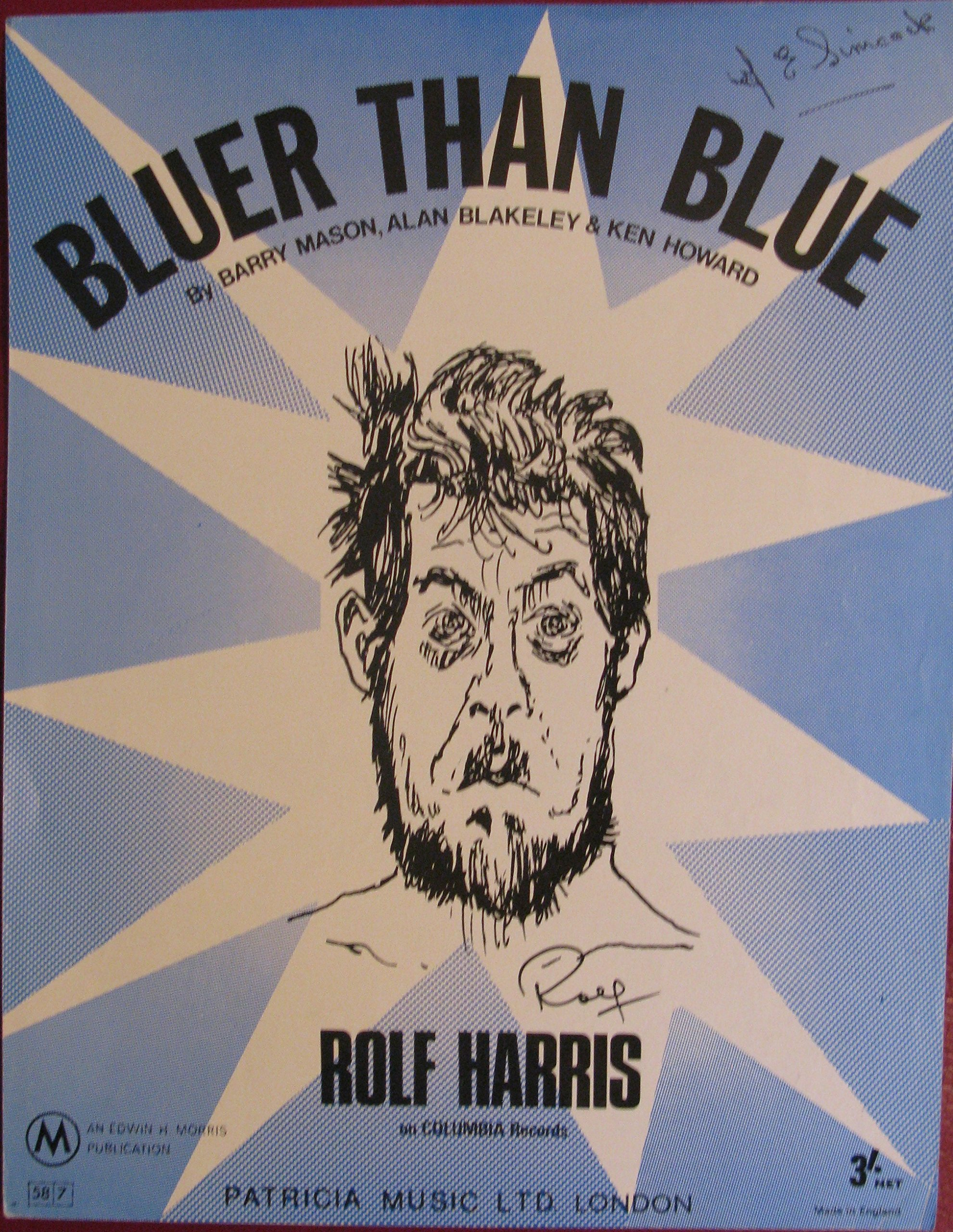 Bluer Than Blue Vocal With Accompaniment Guitar Chords Recorded
