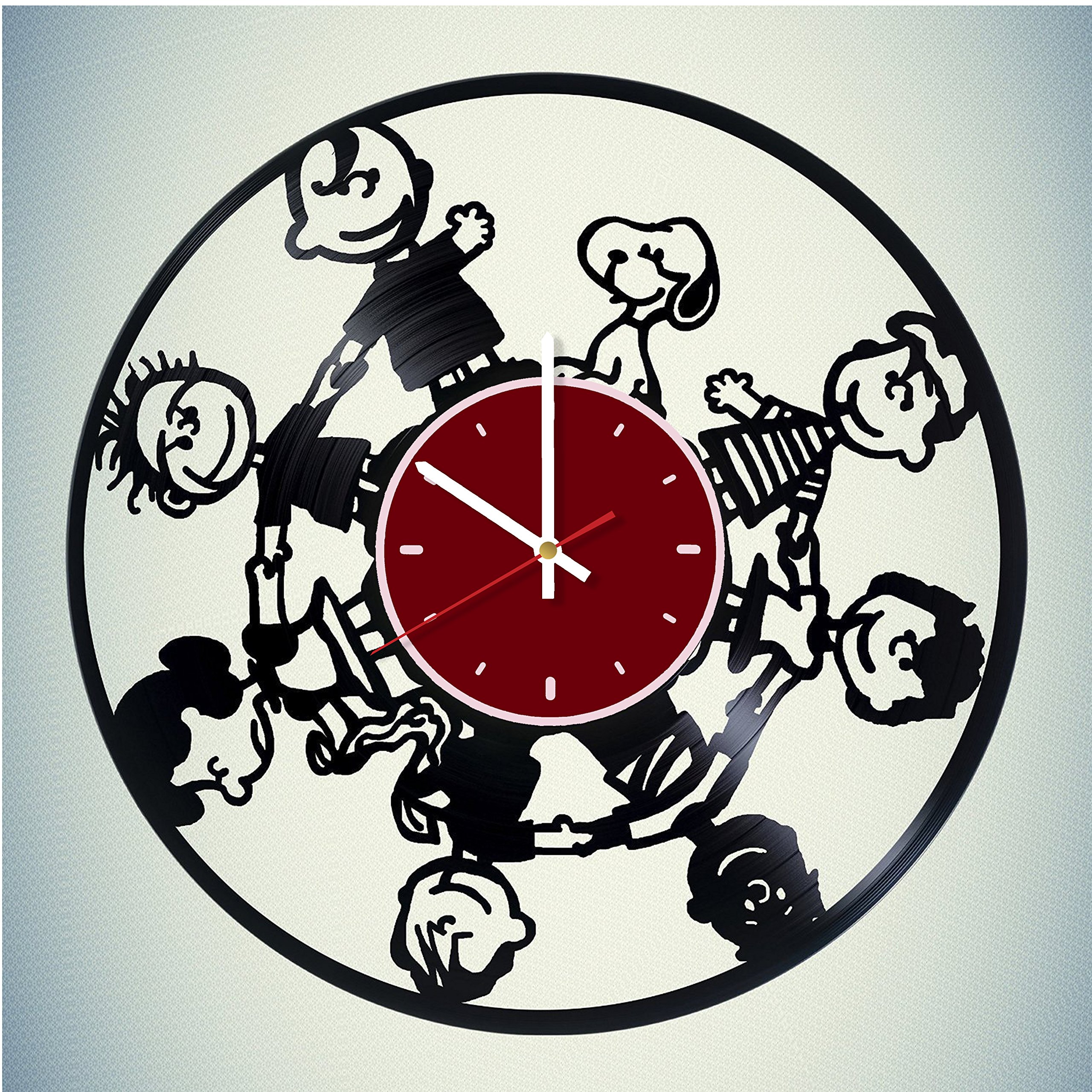 Peanuts Snoopy Charlie Brown Vinyl Wall Clock Living Room Home Decor