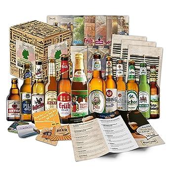 Biergeschenk Box 12 Bier Spezialitaten Im Geschenkkorb Fur Manner