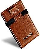 smoody® Tarjetero para 10 Tarjetas de Credito Bloqueo RFID Cartera Minimalista Hombre y Mujer Pequeña Billetera con…