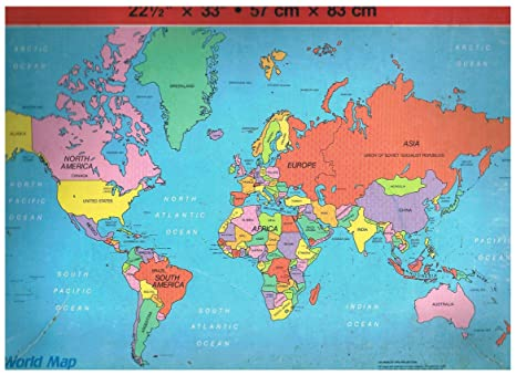 Amazon.com: World Map (1984) Jigsaw Puzzle (300 Extra Large Pieces ...