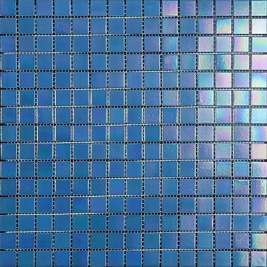 Set de 10 Piezas Mosaico de Vidrio en Malla DEC-74291AXS007 4 mm 32.7 x 32.7 cm Verde