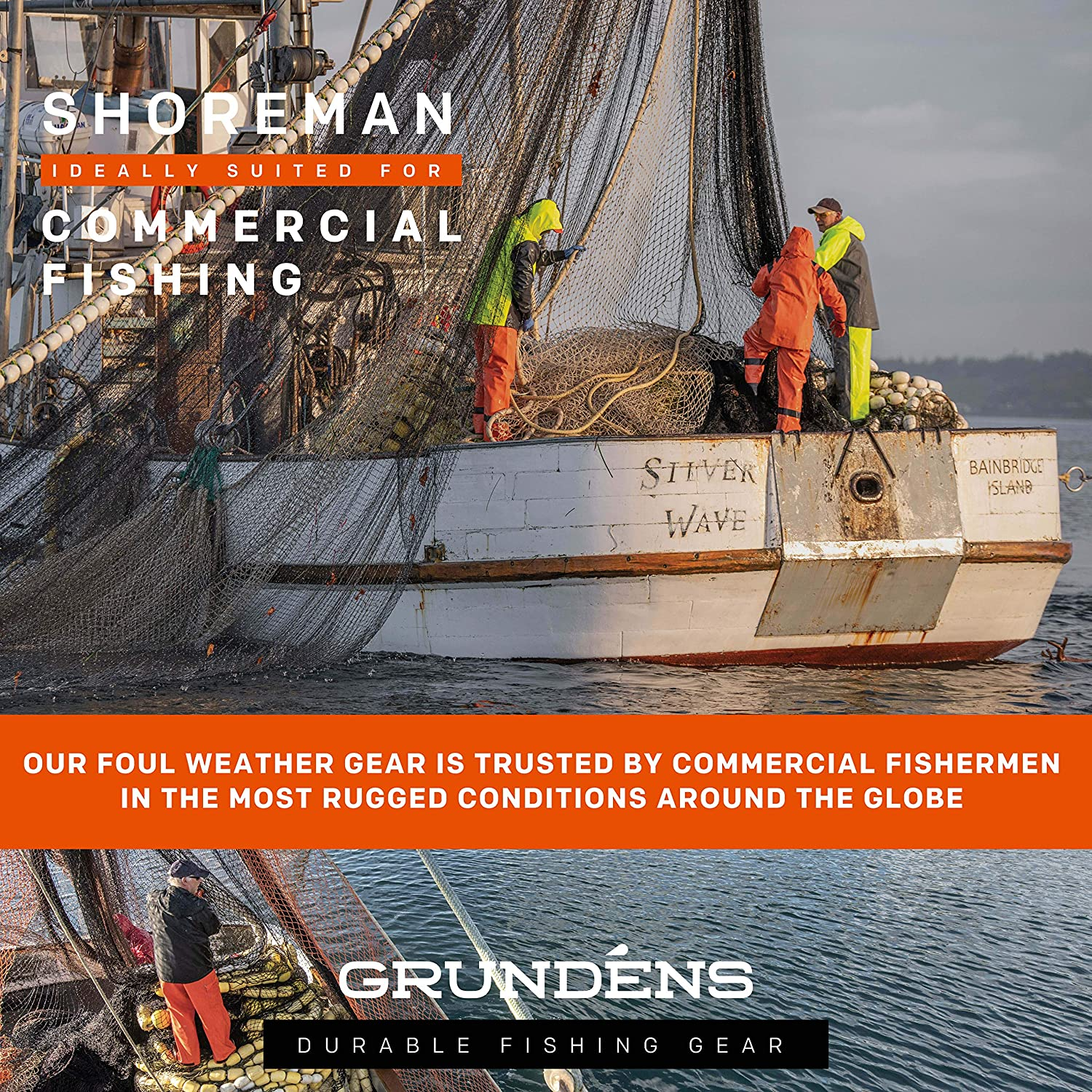 Grund/éns Mens Shoreman Processing Bib Pants