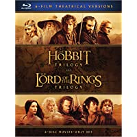 The Hobbit Trilogy and The Lord of the Rings Trilogy Blu-Ray