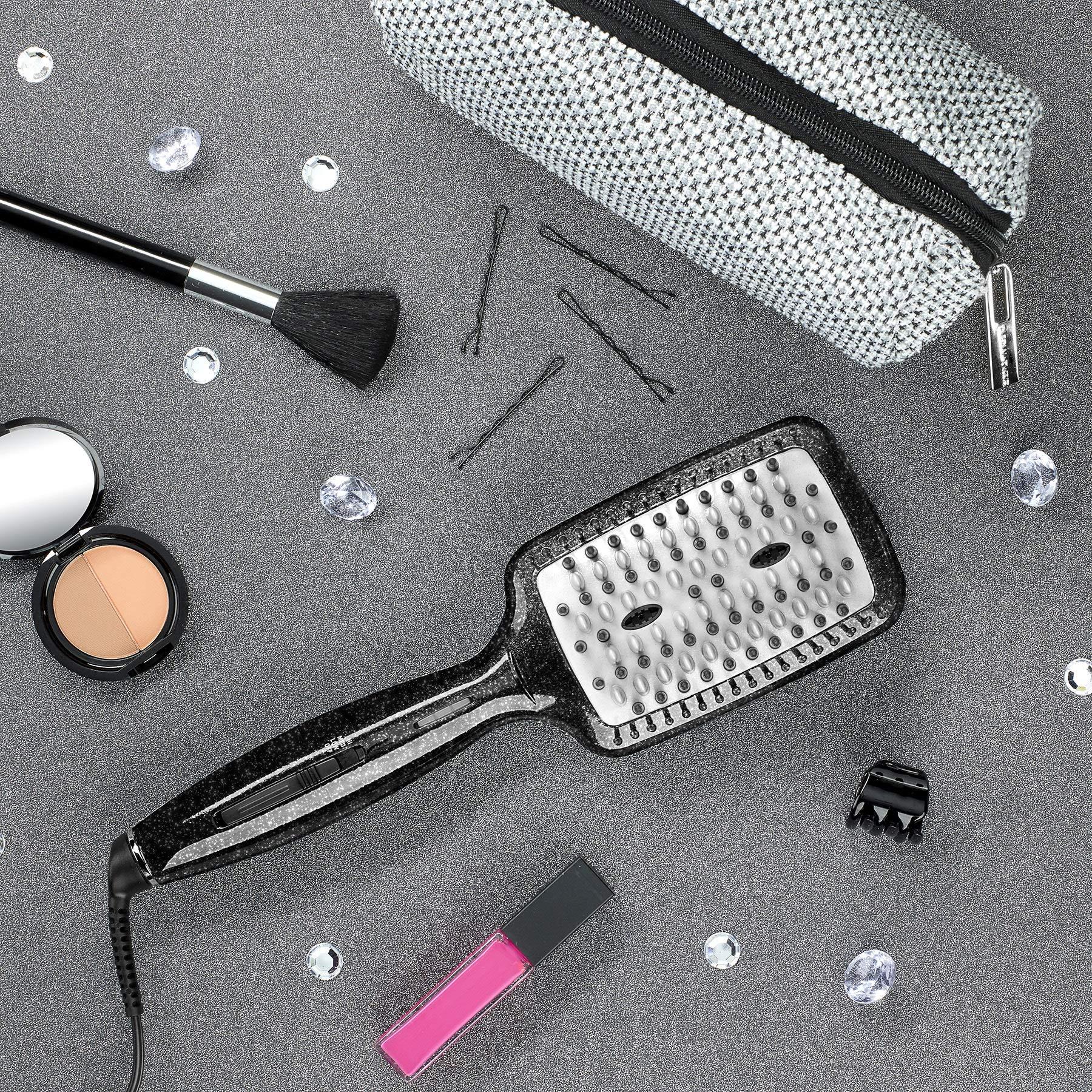 INFINITIPRO BY CONAIR Diamond-Infused Ceramic Smoothing Hot Brush/Straightening Brush; Black by Conair (Image #6)