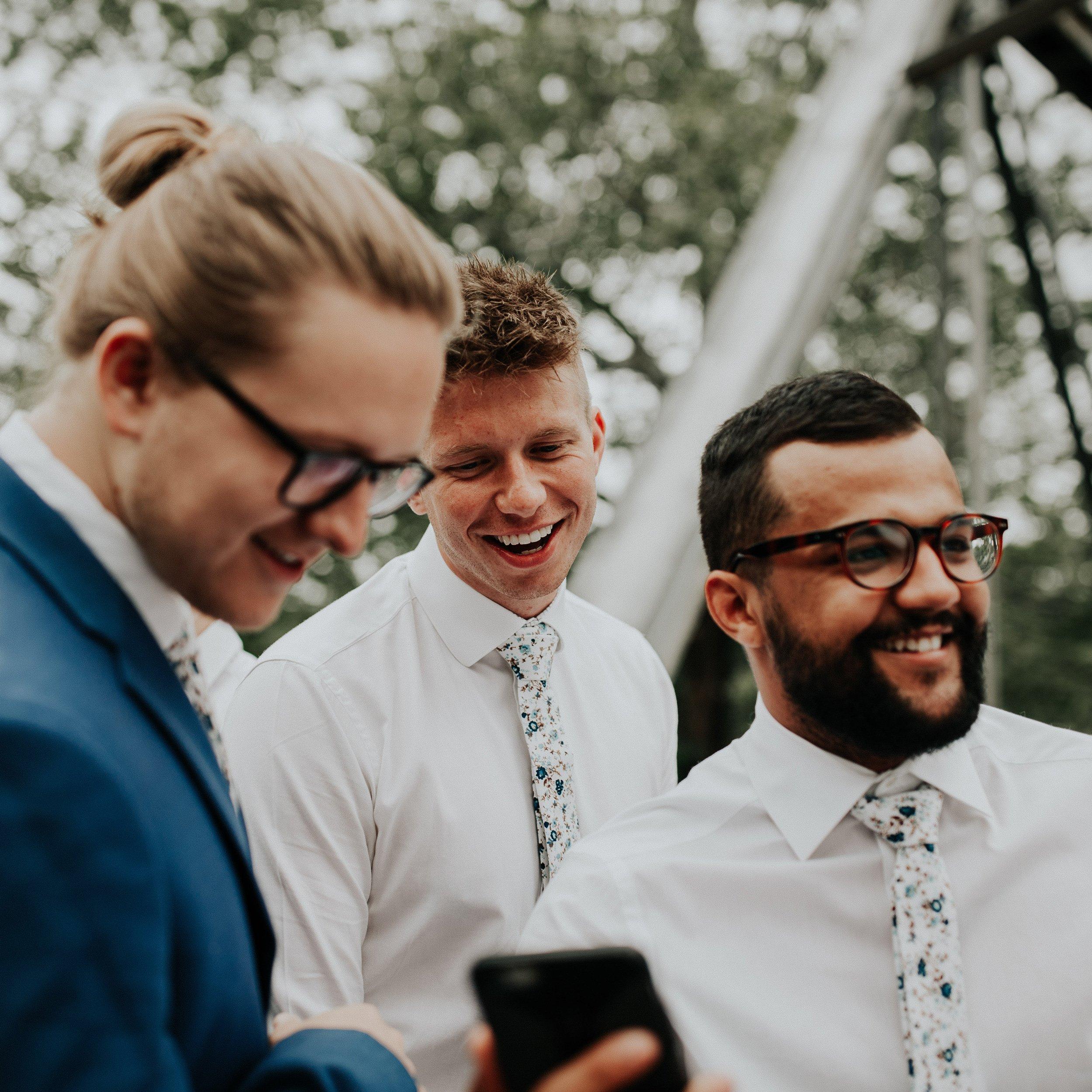 DAZI Men's Skinny Tie Floral Print Cotton Necktie, Great for Weddings, Groom, Groomsmen, Missions, Dances, Gifts. (Blue Bloom) by DAZI (Image #3)