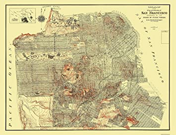 Amazon.com: Topographical Map - San Francisco California - Public ...