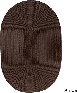 product image for Rhody Rug Madeira Indoor/Outdoor Braided Rug Brown 3' x 5' Oval Synthetic, Polypropylene Antimicrobial, Stain Resistant 4' Round Outdoor, Indoor Oval