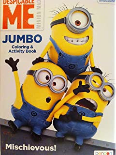minions coloring book despicable me fun activity for children 96 pages