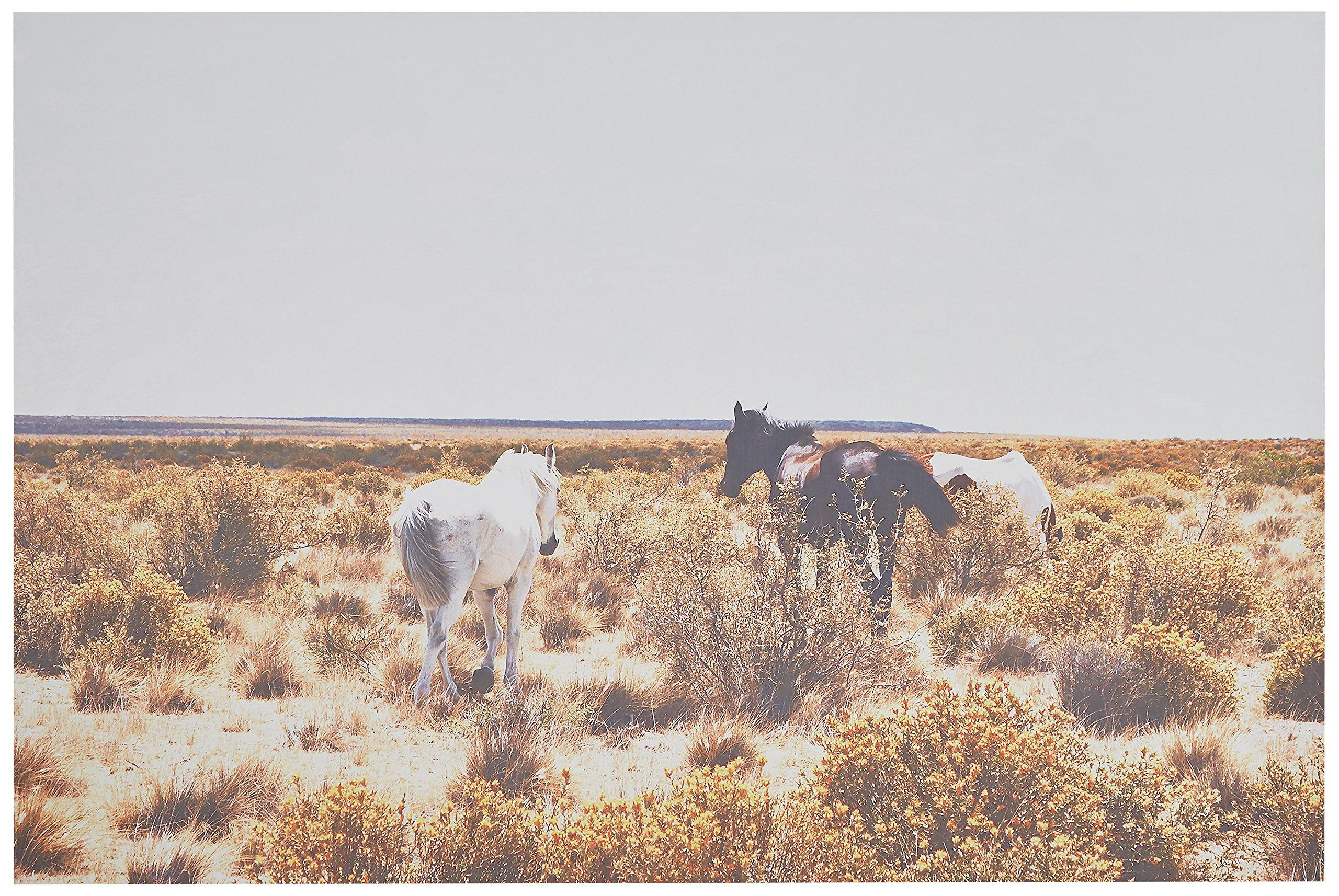 Canvas Print of Horses Grazing in Southwest Desert, 36'' x 24''