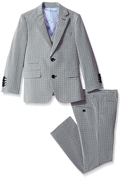 Amazon.com: isaac mizrahi Boys Slim con textura traje de 3 ...