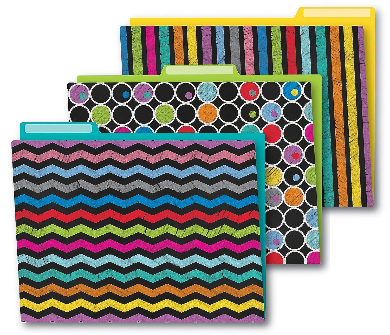 Colorful Chalkboard File Folder Carson Dellosa Pub Co Inc CDP136006 Education Non-Classifiable