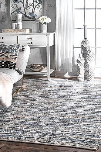 nuLOOM Maile Denim Stripes Area Rug, 8 6 x 11 6 , Blue
