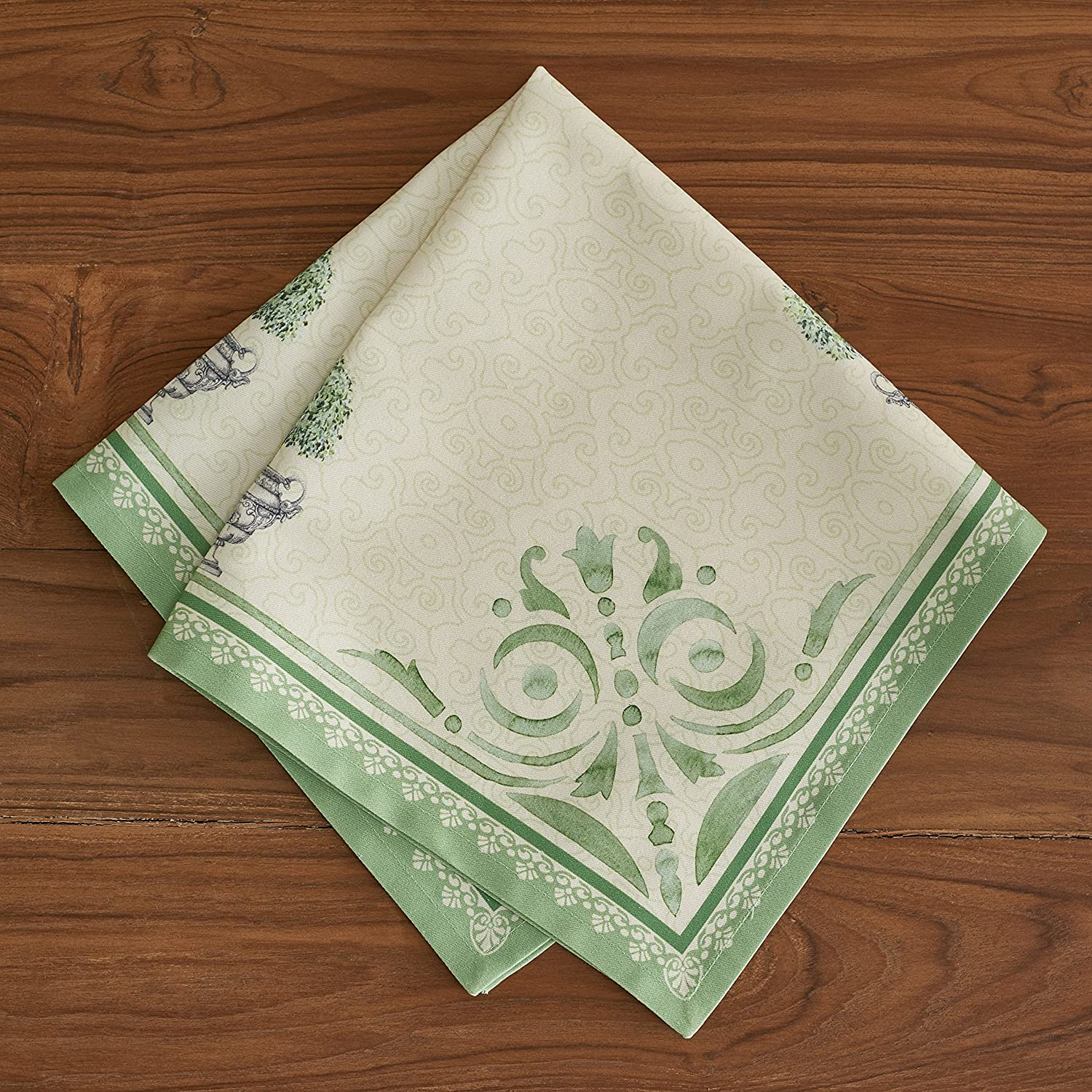 Jardin du Roy French Hand Painted Cotton Napkins Set of 4