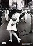 CARL MUSCARELLO Hand Signed Photo - VJ Day in Times Square - JSA COA - UACC RD#289